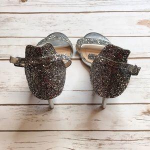 BAMBOO Shoes - Sliver glitter high heels